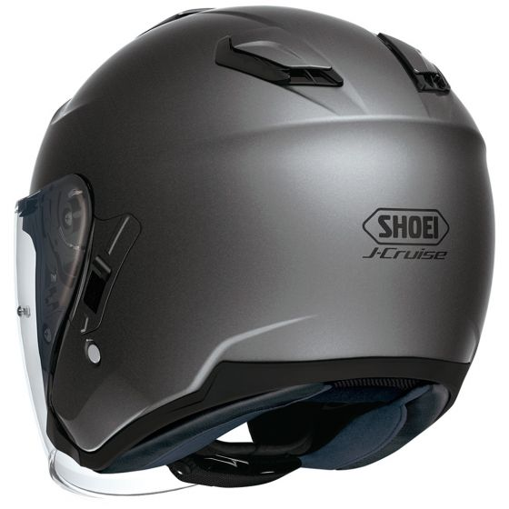 shoei j cruise helmet matte grey back