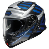 shoei neotec 2 splicer helmet blue
