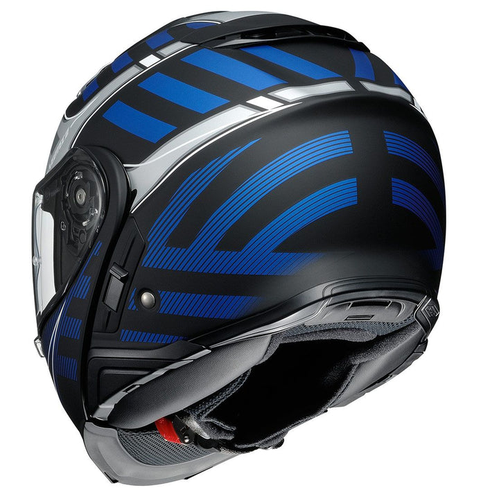shoei neotec 2 splicer helmet blue back