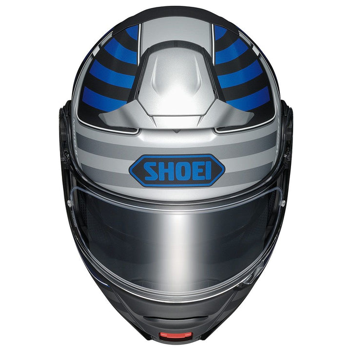 shoei neotec 2 splicer helmet blue top