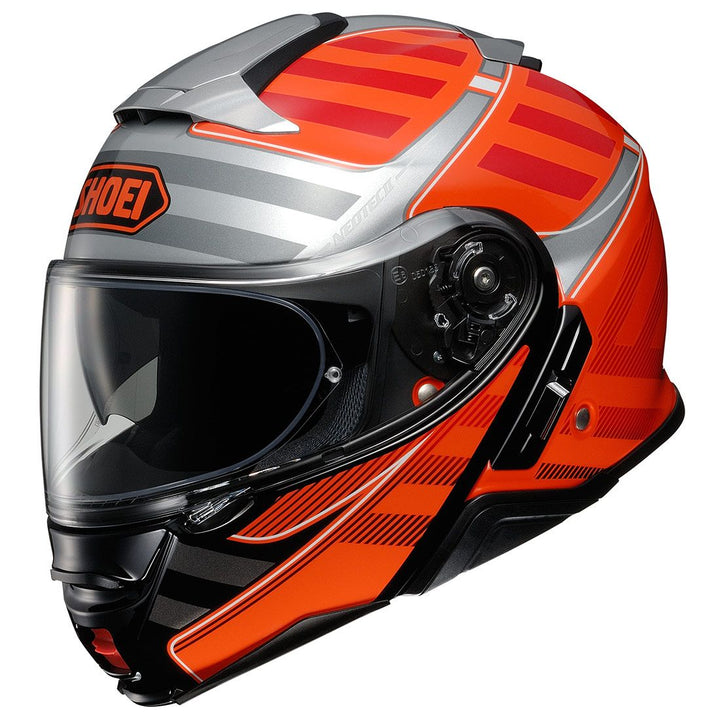 shoei neotec 2 splicer helmet orange