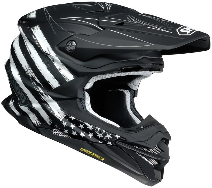shoei vfx evo faithful helmet right