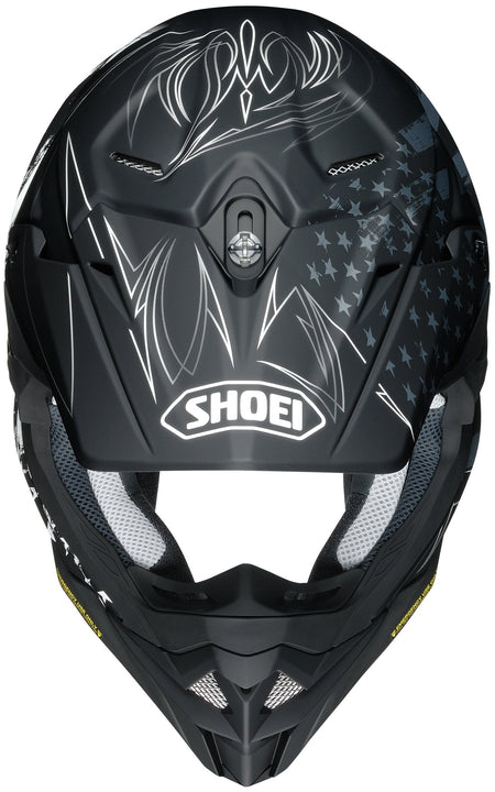 shoei vfx evo faithful helmet top