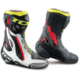 tcx rt pro air motorcycle race boots hivis red white