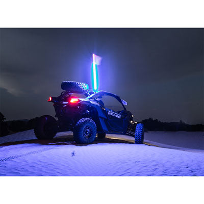tusk led lighted whip kit night