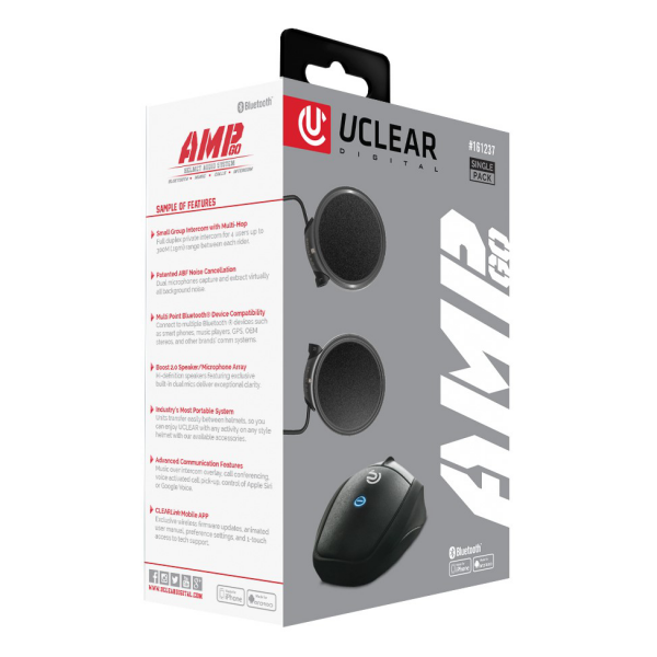 UCLEAR AMP GO Bluetooth Helmet System