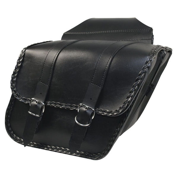 Willie & Max Braided Slant Throw Over Saddlebags