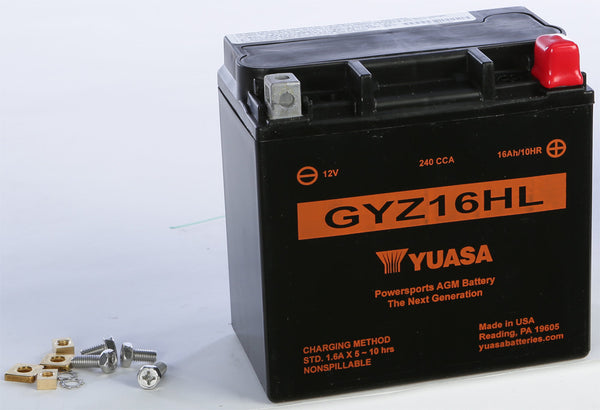 YUASA BATTERY GYZ16HL SEALED FACTORY ACTIVATED
