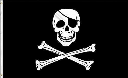 GAKA 3x5 FT Pirate Flags Dead Man's Chest Flag Cross Knife Flag - Halloween Flags Bright Colors and Anti-Fading Materials