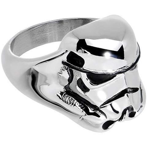 Animewild Star Wars 3D Storm Trooper Ring Size (10)