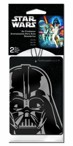 Plasticolor 005545R01 Star Wars Darth Vader Car Air Freshener - 2 Pack