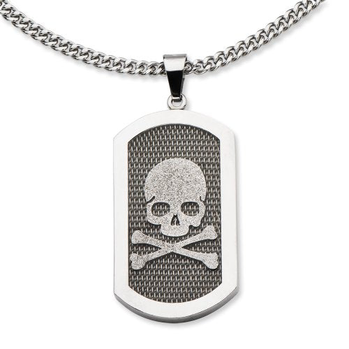 INOX Skull with Mesh Stainless Steel Pendant