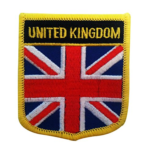 "Great Britain UK Flag Patch / United Kingdom Emblem for England, Scotland, Wales, and Northern Ireland (British Crest, 2.75"" x 2.35"")"