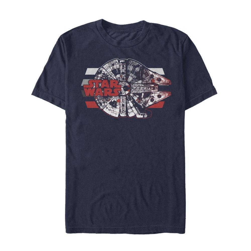 Star Wars The Last Jedi Men's Millennium Falcon Profile T-Shirt