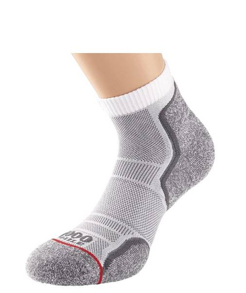 MENS 1000 MILE RUN ANKLET SINGLE LAYER SOCK TWIN PACK