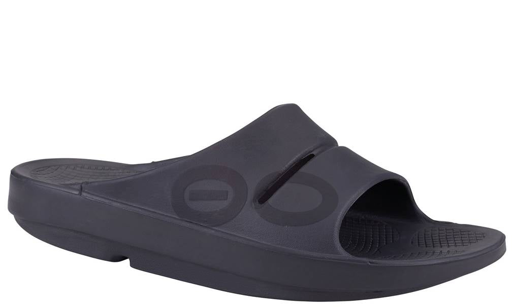 MENS OOFOS OOAHH SLIDE SPORT BLACK MATT