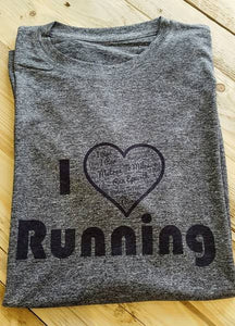 I LOVE RUNNING SHORT SLEEVE T-SHIRT