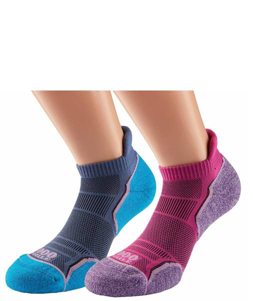 WOMENS 1000 MILE RUN SOCKLET TWIN PACK