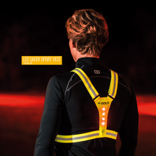 Gato Safer Sport LED Vest USB - Yellow