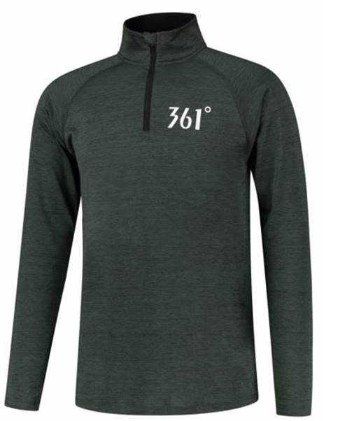 Mens 361 Half Zip Long Sleeve Running Top