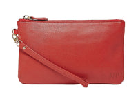 wristlet-ruby red