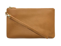 wristlet-almond brown