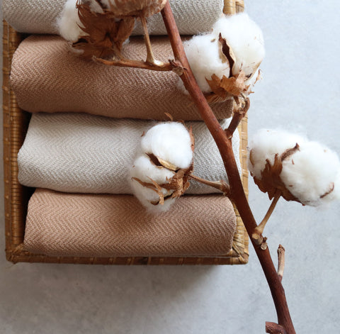 Turkish Towels and branch of cotton