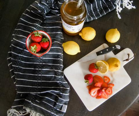 Popsicle recipe with a Turkish Towel