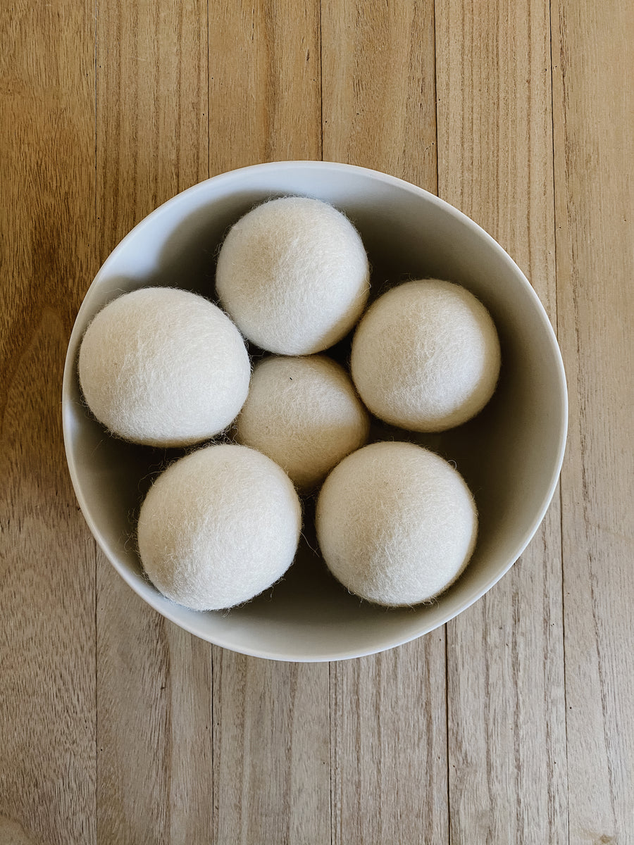 Wool Dryer Balls, Set of 6