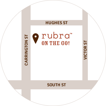 Rubra on the go location