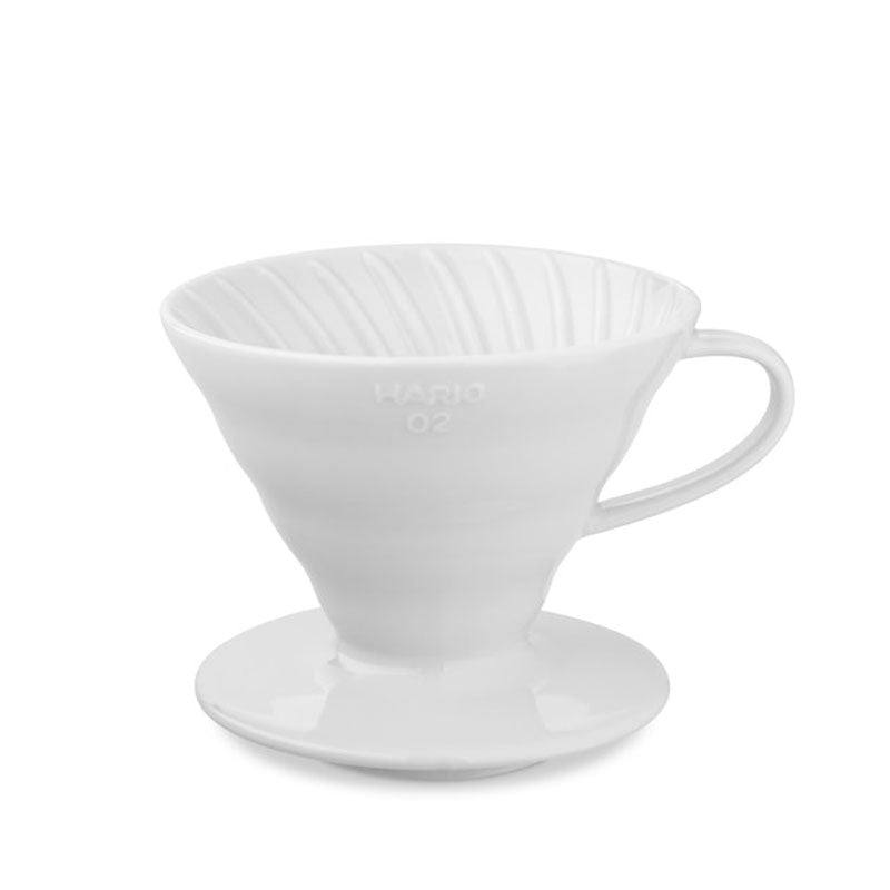 Hario V60 Ceramic Dripper - White - Rubra Coffee