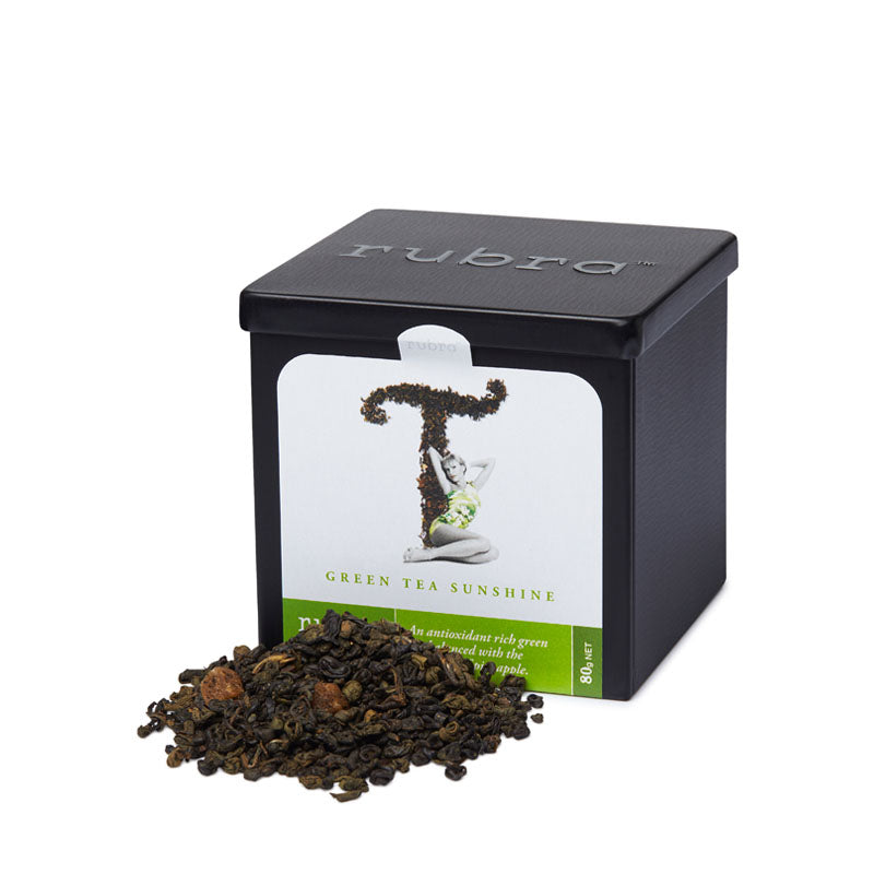 Green Tea Sunshine Loose Leaf 80g Tin - Rubra Coffee