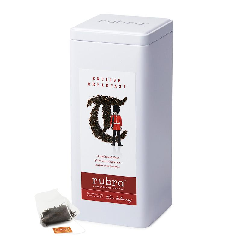 English Breakfast Silken Pyramid Teabags - Rubra Coffee