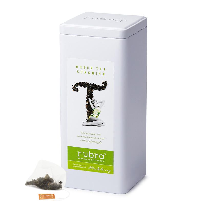 Green Tea Sunshine Silken Pyramid Teabags - Rubra Coffee