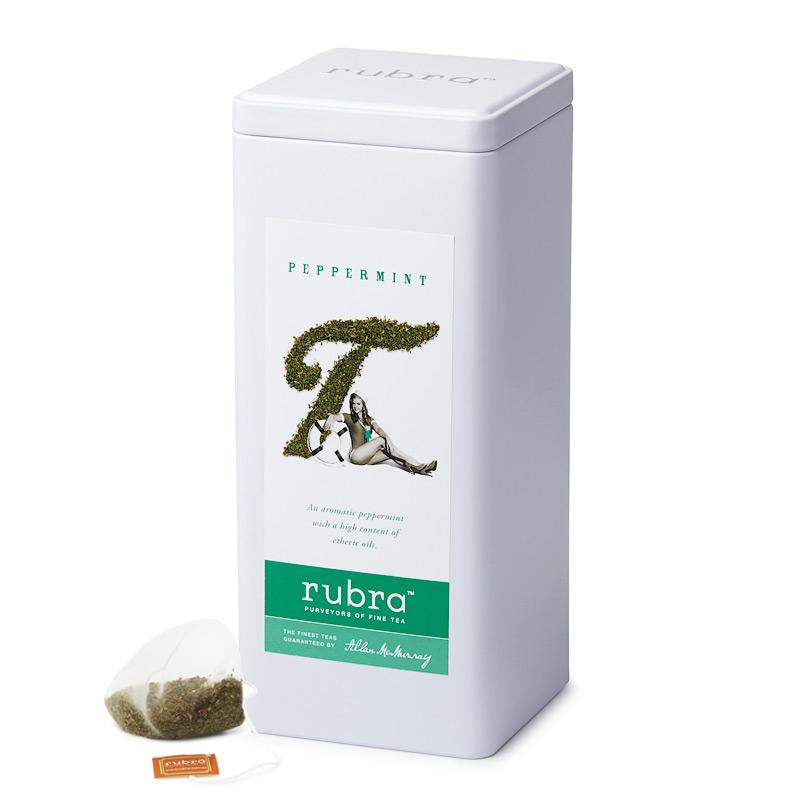 Peppermint 50 Silken Pyramid Teabags - Rubra Coffee