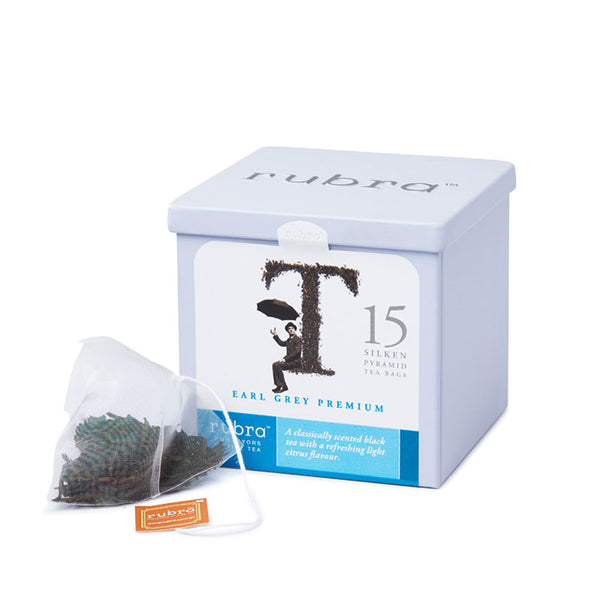 Earl Grey Silken Pyramid Teabags Tin - Rubra Coffee