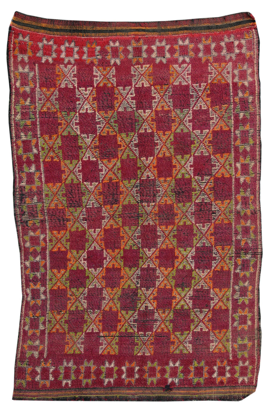MOROCCAN HANDKNOTTED RUG, 61914