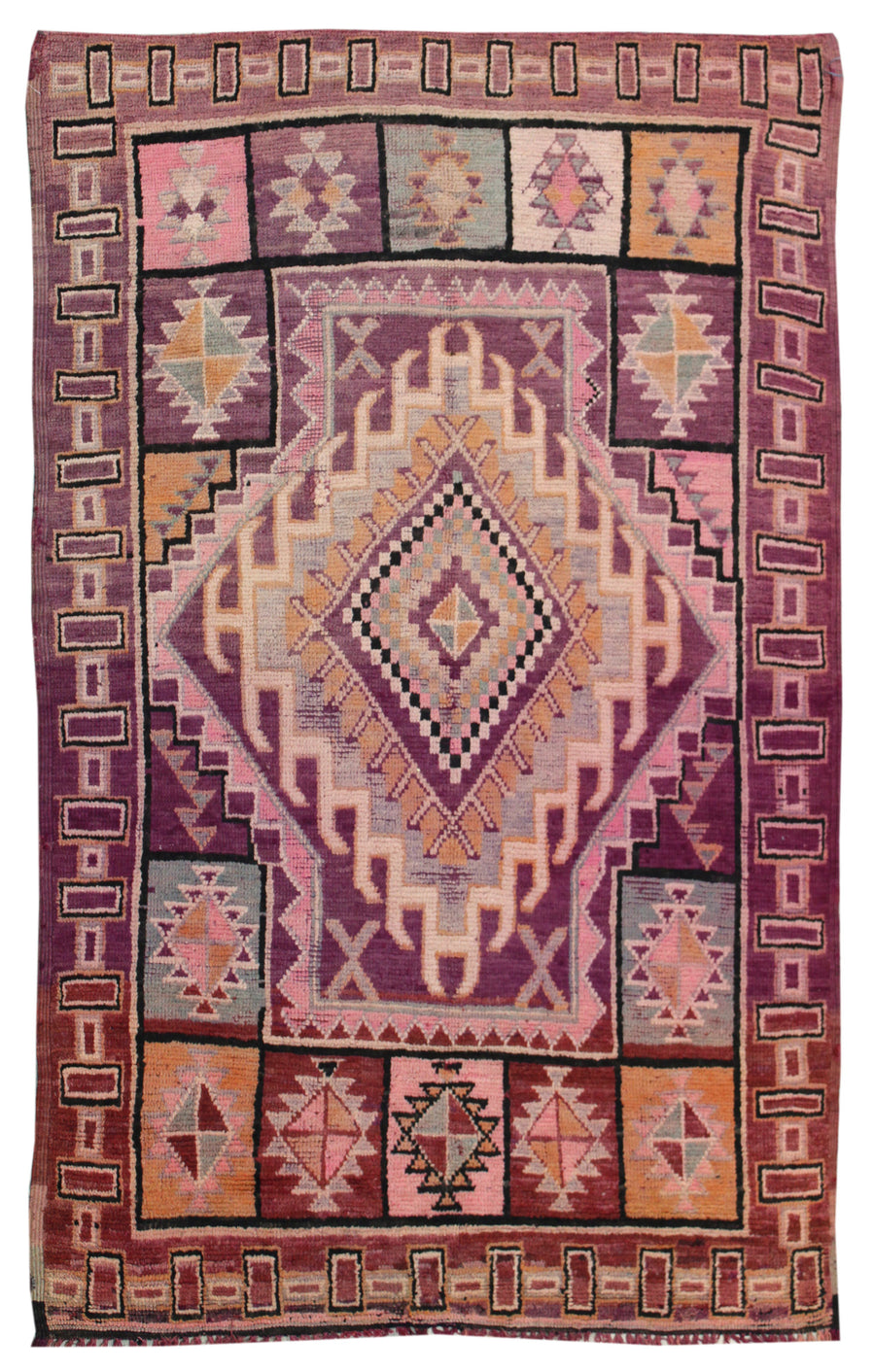 MOROCCAN HANDKNOTTED RUG, 61921