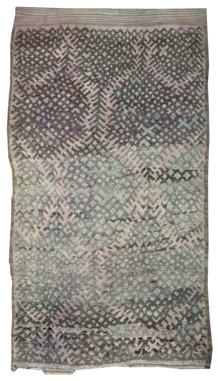 MOROCCAN HANDKNOTTED RUG, 61925