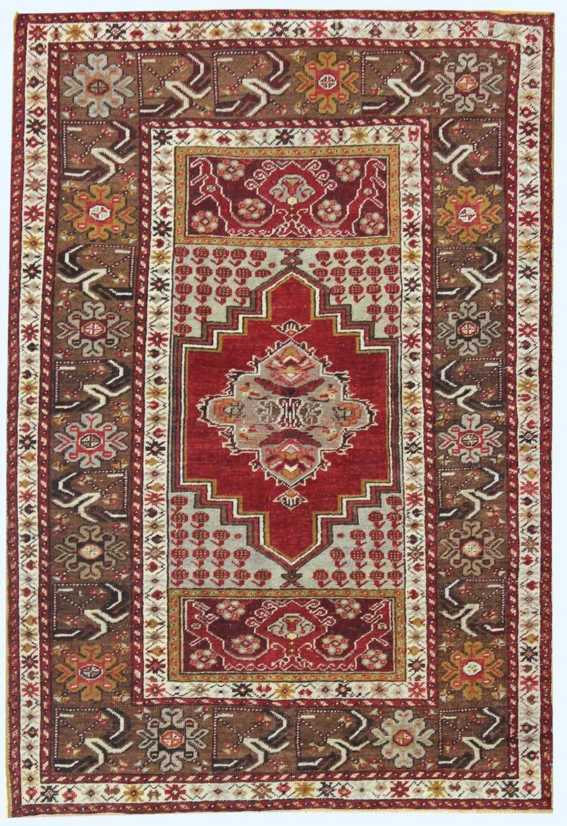 CAUCASIAN HANDKNOTTED RUG, J32502