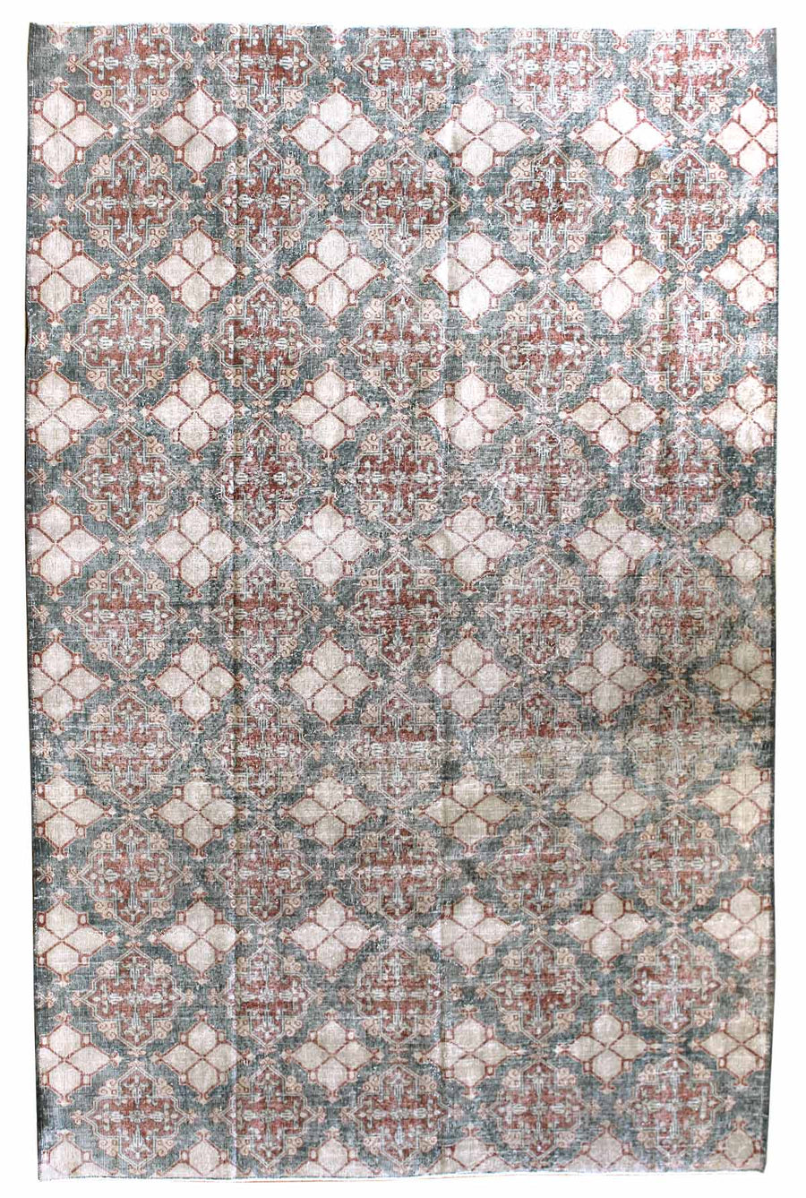 SPANISH HANDKNOTTED RUG, J45865
