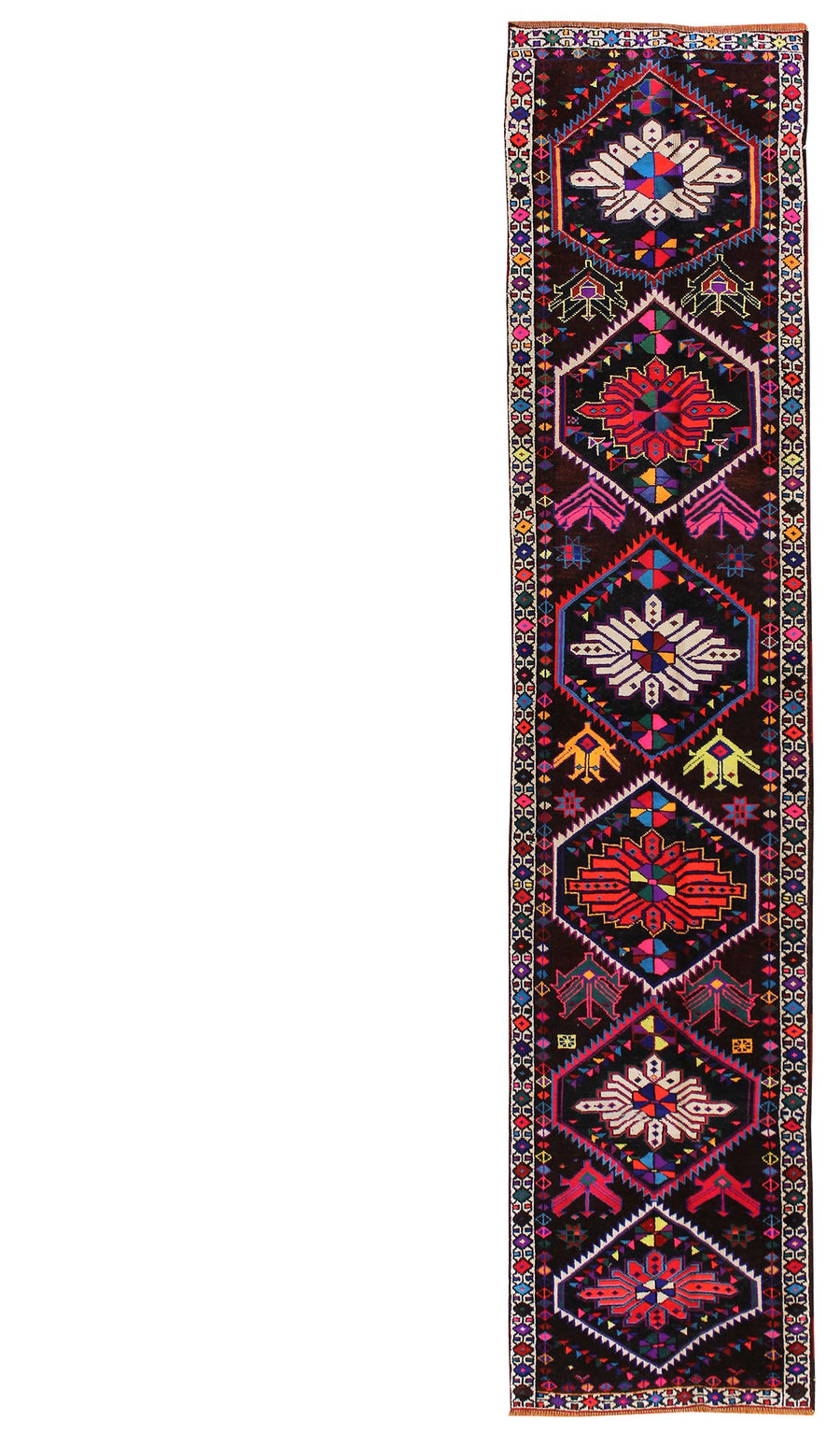 KURDISH HANDKNOTTED RUG, J48865