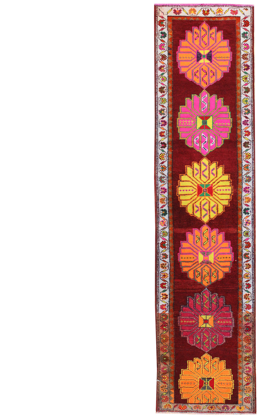 KURDISH HANDKNOTTED RUG, J48866