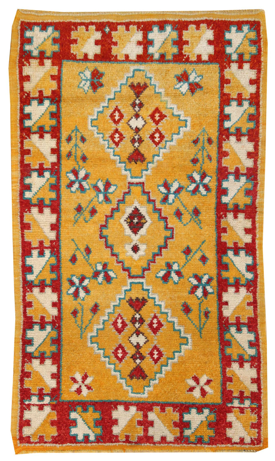 MOROCCAN HANDKNOTTED RUG, J50162