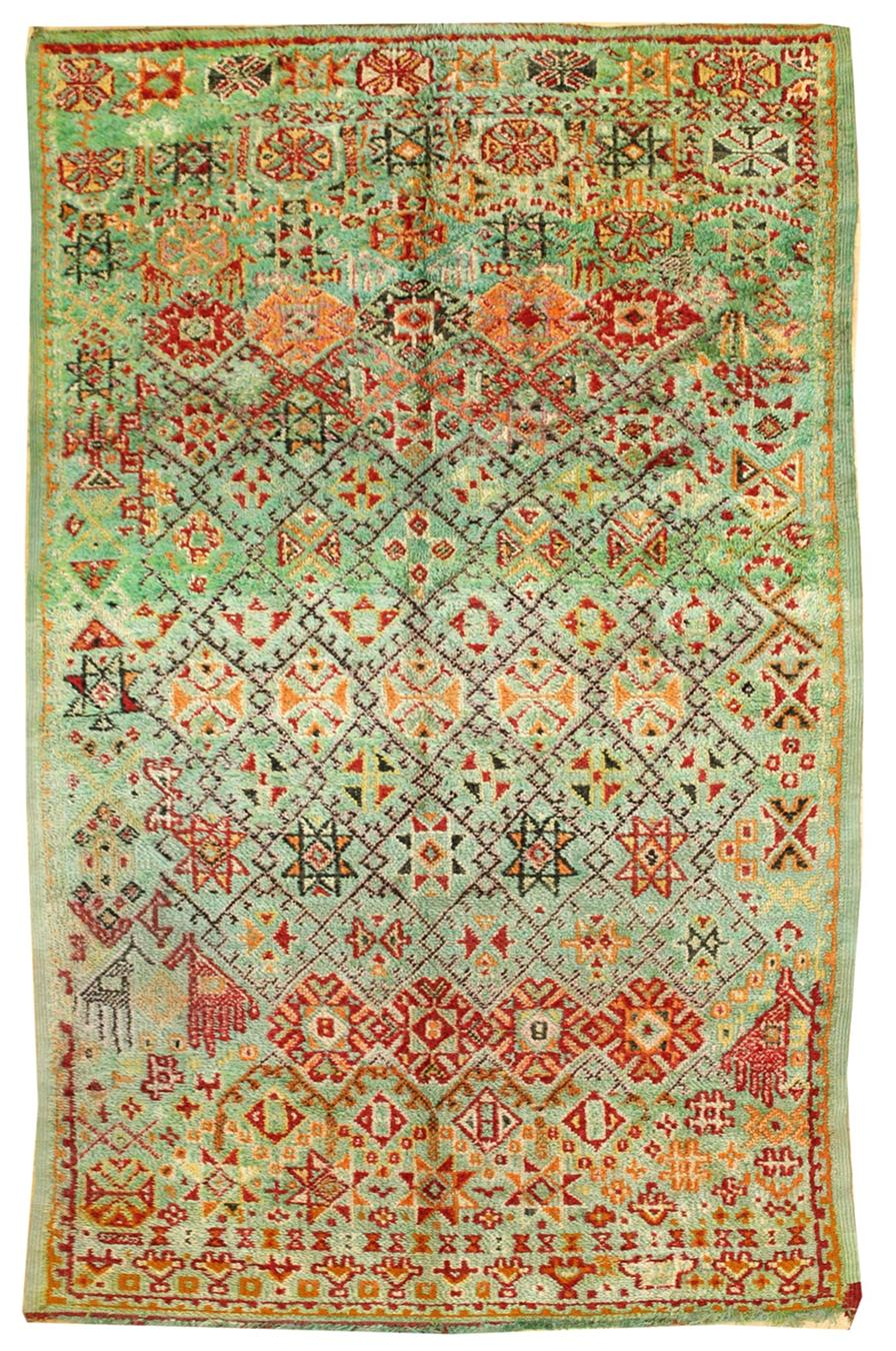 MIDDLE ATLAS ZAYANE HANDKNOTTED RUG, J50269