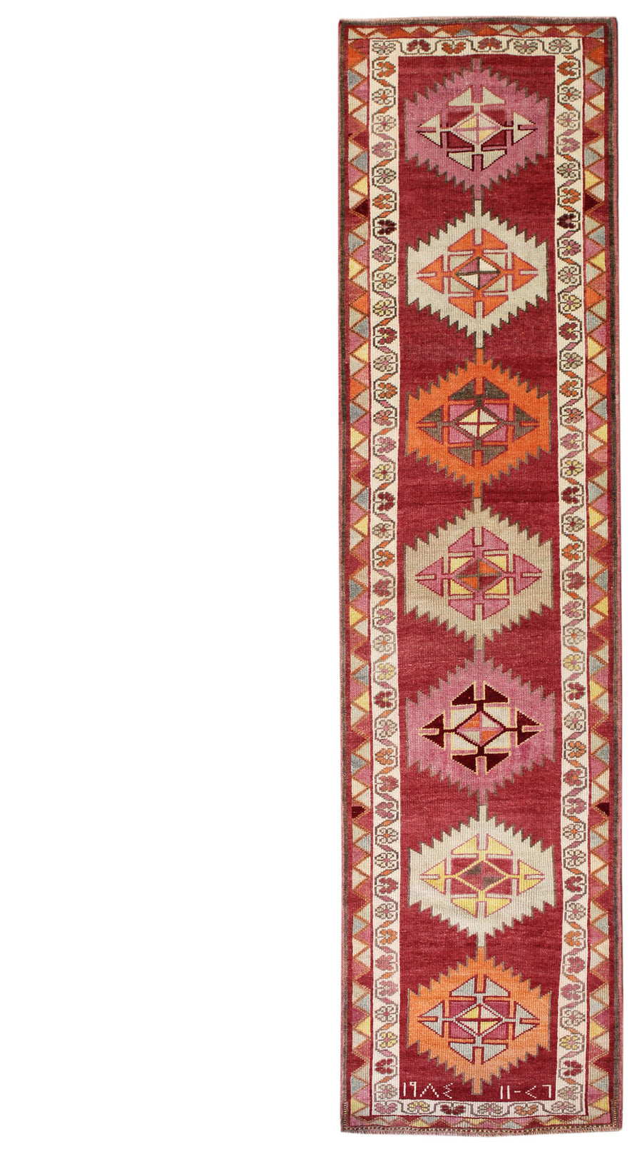 KURDISH HANDKNOTTED RUG, J54111