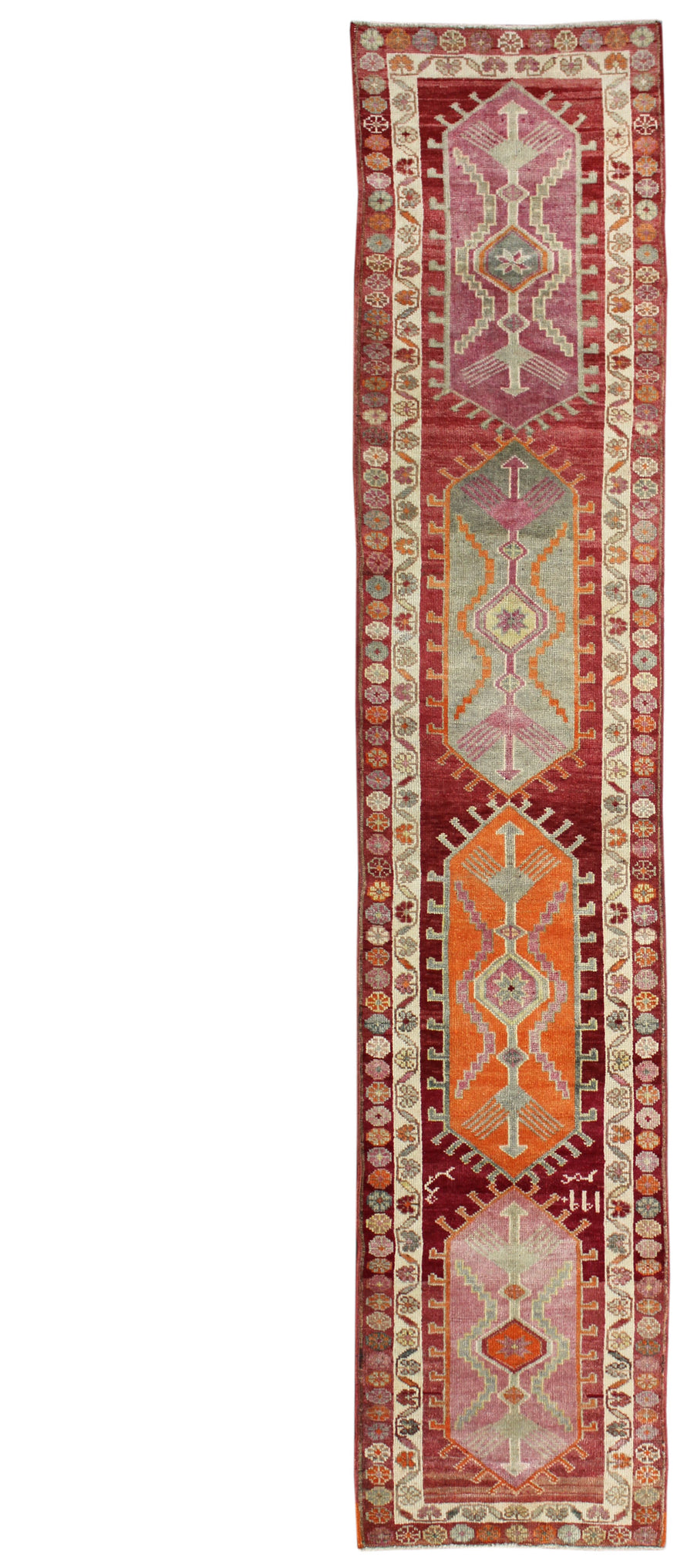 KURDISH HANDKNOTTED RUG, J54114