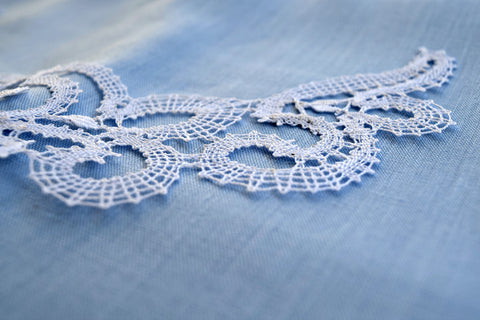 Handmade Vologda lace necklace
