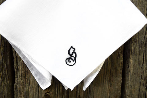 Monogrammed Handkerchief with One Initial - Fairytale