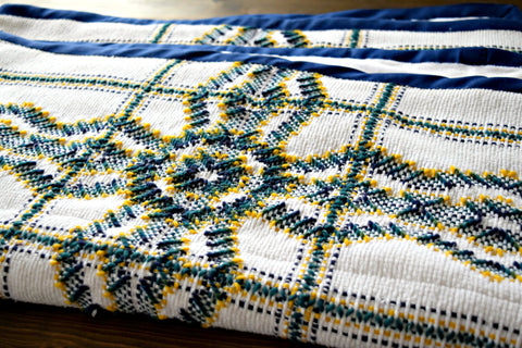 Crossing Borders - Hand Embroidered Small Throw - Baby Blanket